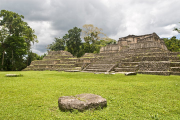 Maya archaeological site Caracol located in Western Belize in Central America