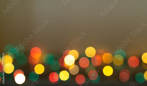 new year focus glowing blurry boken lights background red