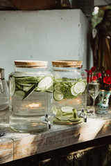 Cucumber Lime Water at.a wedding