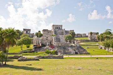 Mayan ruin at Tulum near Playa Del Carmen, Mexico