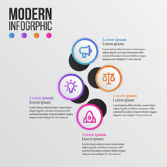 Modern info graphic presentation with business icon. vector illustration. data visualization