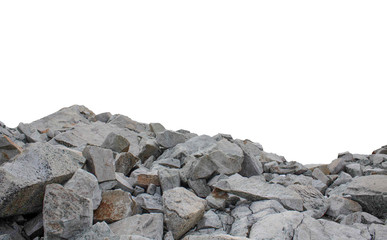 Huge cobblestones from the quarry