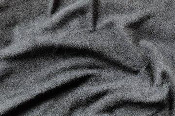 Texture of gray fleece, soft napped fabric