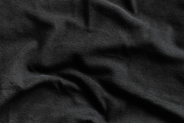 Black fleece texture, soft napped fabric