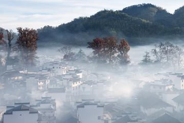 beautiful countryside in wuyuan county