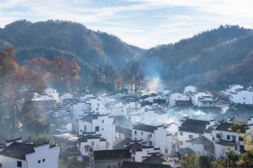 beautiful wuyuan countryside landscape of shicheng village