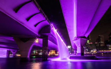 The purple water bridge