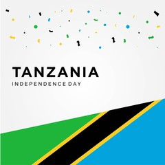 tanzania independence day vector design
