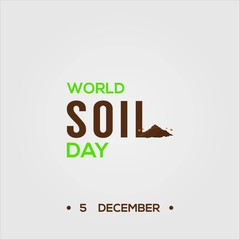 world soil day vector design