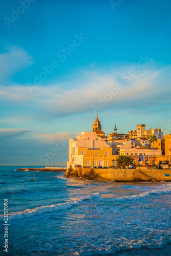 Spanish Beach Resort In Barcelona Spain Sitges Area Is Known As A