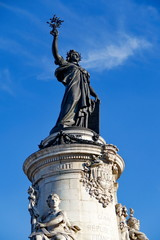 Statue de la République; Place de la République; Paris