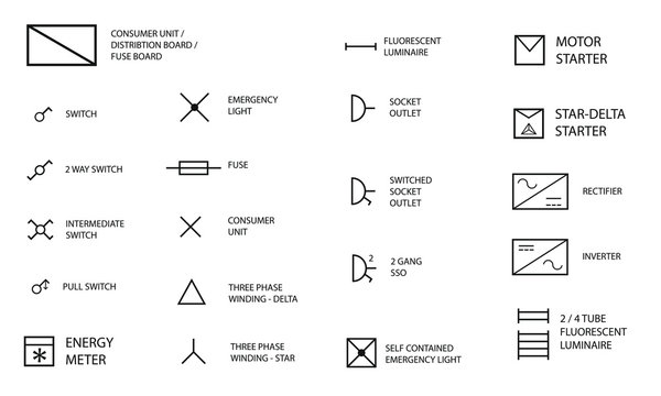 357 306 Best Electrical Symbols Images, House Wiring Symbols Uk