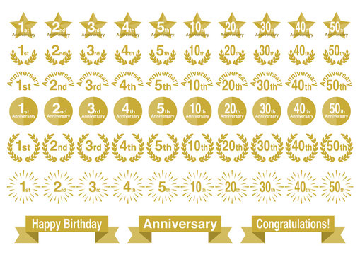 Anniversary アニバーサリー アイコン セット