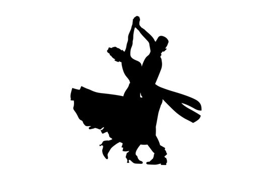 dance sport ballroom dancing couple dancers black silhouette