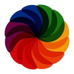 Rainbow overlapping fan icon