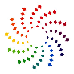 Circle to square rainbow symbol