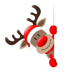 Rudolph Left Side Vertical Banner Thumb up