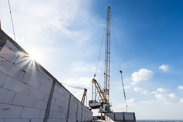 tower crane construction site