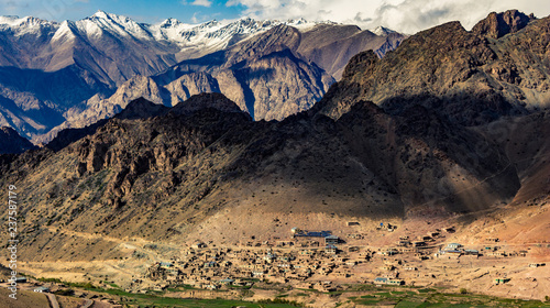 Village of Laloung as viewed from Hambuting-La in Kargil