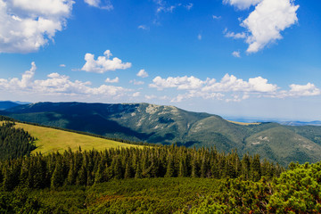 View of the Carpathian mountains