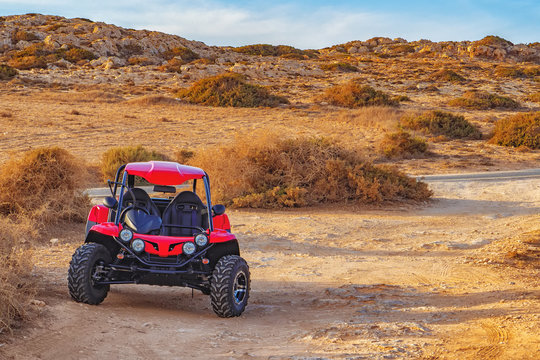 Picture of quadbike on the desert road