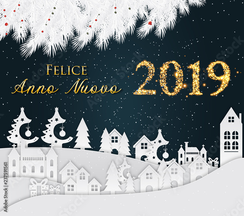 italian happy new year greeting card new year 2019