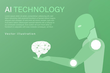 Business and finance. Vector illustration for artificial intelligence, data analysis or cloud technology.