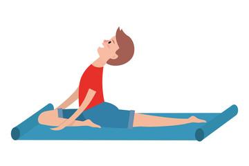 fit man practicing yoga