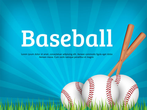 baseball posters with baseball ball. Baseball competition game advertising. Sport event announcement. Place your text and emblems of participants. Vector illustration.