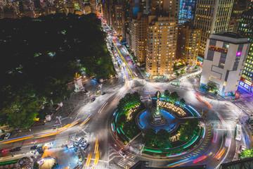 Columbus Circle at Night Fotomurales