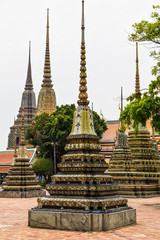 Wat Pho . Temple of the Reclining Buddha. Bangkok. Thailand.