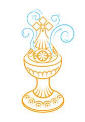 Incense burner icon gold