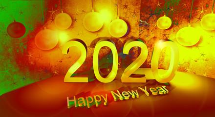 Auguri anno nuovo 2020.