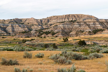 Landscape view of Theodore Roosevelt National Park (North Dakota).