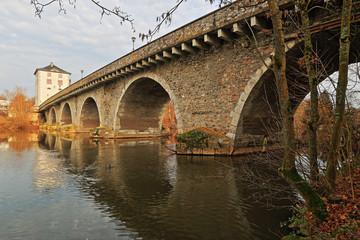 Alte Lahnbrücke in Limburg, Unterstromseite
