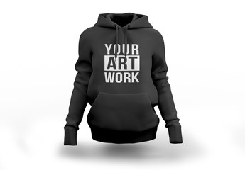 Black Hooded Sweatshirt Mockup