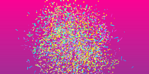 Confetti on isolated background. Luxury texture. Festive bright backdrop with glitters. Pattern for work. Print for polygraphy, posters, banners and textiles. Doodle for design and business