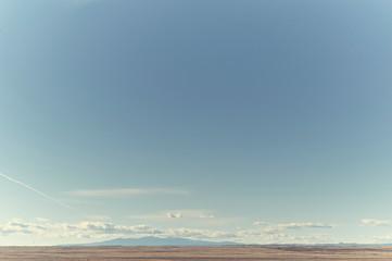 big blue sky and horizon