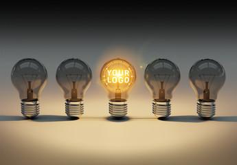 Lightbulb Logo Mockup