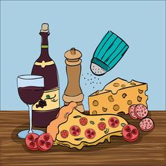 wine with italian food menu