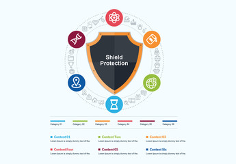 Shield Protection Infographic Layout