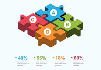 3D Puzzle Infographic Layout