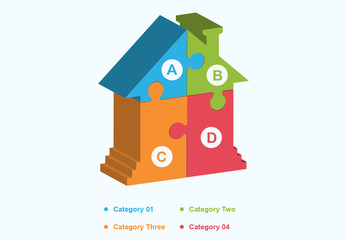 Puzzle House Infographic Layout