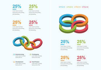 Circle Links Infographic Layout
