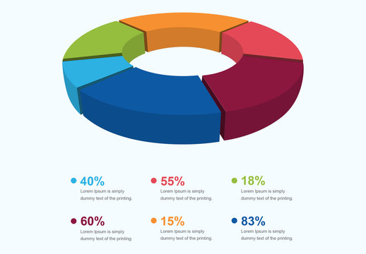 3D Pie Chart Infographic Layout
