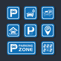 parking zone set signals