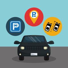 parking zone set icons