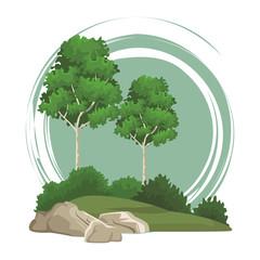 Trees nature landscape
