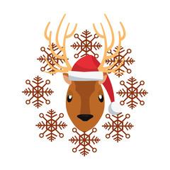 christmas reindeer snowflake decoration