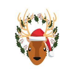 christmas reindeer floral decoration